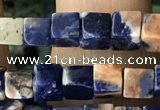 CCU463 15.5 inches 4*4mm cube sodalite gemstone beads wholesale