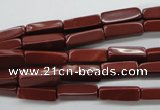 CCU502 15.5 inches 4*13mm cuboid red jasper beads wholesale