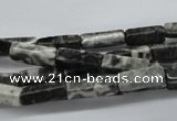 CCU505 15.5 inches 4*13mm cuboid black & white jasper beads wholesale