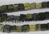 CCU54 15.5 inches 6*6mm cube yellow turquoise beads wholesale