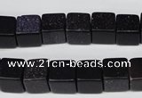 CCU71 15.5 inches 10*10mm cube blue goldstone beads wholesale