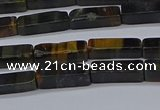 CCU720 15.5 inches 4*13mm cuboid blue tiger eye beads wholesale