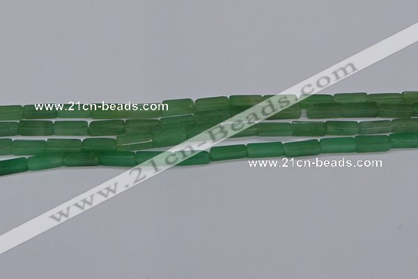 CCU733 15.5 inches 4*13mm cuboid green aventurine beads wholesale