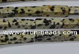 CCU739 15.5 inches 4*13mm cuboid dalmatian jasper beads wholesale