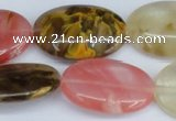 CCY220 15.5 inches 20*30mm oval volcano cherry quartz beads