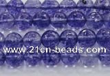 CCY602 15.5 inches 8mm faceted round blue cherry quartz beads