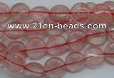 CCY61 15.5 inches 10mm flat round cherry quartz beads wholesale
