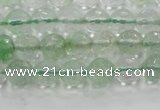 CCY611 15.5 inches 6mm faceted round green cherry quartz beads