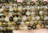 CCY648 15.5 inches 10mm round volcano cherry quartz beads