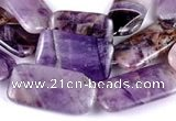 CDA04 Rectangle dogtooth amethyst quartz beads Wholesale