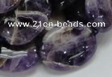 CDA10 15.5 inches 22*30mm oval dogtooth amethyst quartz beads