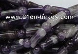 CDA17 15.5 inches 6*12mm column & round dogtooth amethyst beads