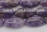 CDA301 15.5 inches 9*18mm oval dyed dogtooth amethyst beads