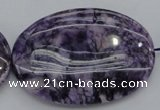 CDA305 15.5 inches 35*50mm oval dyed dogtooth amethyst beads