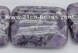 CDA313 15.5 inches 30*40mm rectangle dyed dogtooth amethyst beads