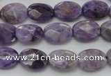 CDA323 15.5 inches 10*14mm faceted oval dyed dogtooth amethyst beads