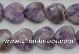 CDA325 15.5 inches 16*16mm faceted heart dyed dogtooth amethyst beads