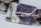 CDA83 15.5 inches 25*35mm rectangle dogtooth amethyst beads wholesale
