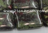 CDB223 15.5 inches 22*30mm rectangle natural dragon blood jasper beads