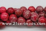 CDE04 15.5 inches 10mm round dyed sea sediment jasper beads
