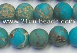 CDE1026 15.5 inches 6mm round matte sea sediment jasper beads