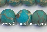 CDE1029 15.5 inches 12mm round matte sea sediment jasper beads