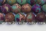 CDE1035 15.5 inches 4mm round matte sea sediment jasper beads