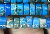 CDE1234 15.5 inches 3*6mm heishi sea sediment jasper beads