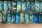 CDE1241 15.5 inches 3*8mm heishi sea sediment jasper beads