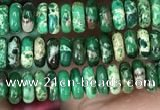 CDE1259 15.5 inches 2*4mm rondelle sea sediment jasper beads