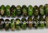 CDE136 15.5 inches 6*14mm rondelle dyed sea sediment jasper beads