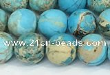 CDE1378 15.5 inches 8mm round matte sea sediment jasper beads