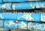 CDE1475 15.5 inches 4*13mm tube synthetic sea sediment jasper beads