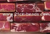 CDE1487 15.5 inches 4*13mm cuboid synthetic sea sediment jasper beads