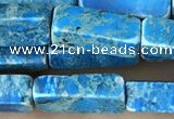 CDE1488 15.5 inches 4*13mm cuboid synthetic sea sediment jasper beads
