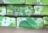 CDE1490 15.5 inches 4*13mm cuboid synthetic sea sediment jasper beads