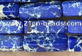 CDE1491 15.5 inches 4*13mm cuboid synthetic sea sediment jasper beads