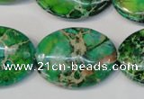 CDE186 15.5 inches 22*30mm oval dyed sea sediment jasper beads