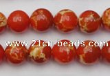 CDE2003 15.5 inches 10mm round dyed sea sediment jasper beads