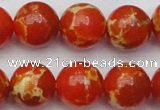 CDE2007 15.5 inches 18mm round dyed sea sediment jasper beads