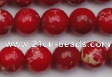 CDE2025 15.5 inches 10mm round dyed sea sediment jasper beads