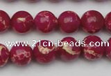 CDE2036 15.5 inches 10mm round dyed sea sediment jasper beads