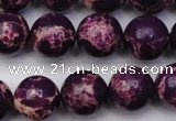 CDE2049 15.5 inches 14mm round dyed sea sediment jasper beads