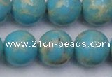 CDE2063 15.5 inches 20mm round dyed sea sediment jasper beads