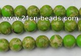 CDE2067 15.5 inches 6mm round dyed sea sediment jasper beads