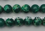CDE2079 15.5 inches 8mm round dyed sea sediment jasper beads