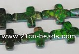 CDE209 15.5 inches 15*20mm cross dyed sea sediment jasper beads
