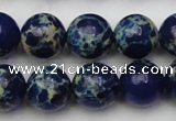 CDE2092 15.5 inches 12mm round dyed sea sediment jasper beads