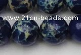 CDE2096 15.5 inches 20mm round dyed sea sediment jasper beads