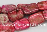 CDE21 15.5 inches 13*18mm rectangle dyed sea sediment jasper beads